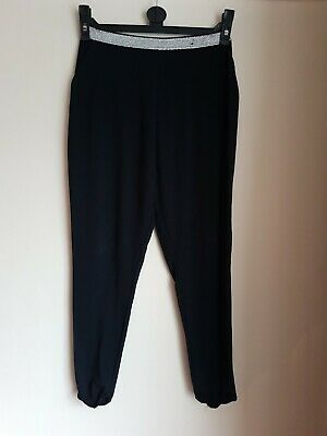 Girls Black/Silver Harem Style Loose Fit Leggings Trousers Age 8-9 Years 2