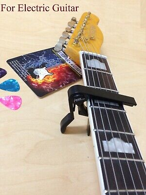 Haze HSB5 Quick Change Guitar Capo-Acoustic/Electric/Classical Guitars+3 Picks 7