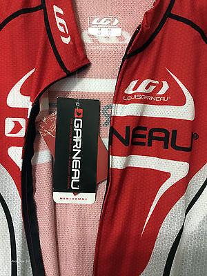 0d3f4dcc7 ... new Louis Garneau Vuelta Fondo carbon men s road cycling jersey full zip  red blk 2