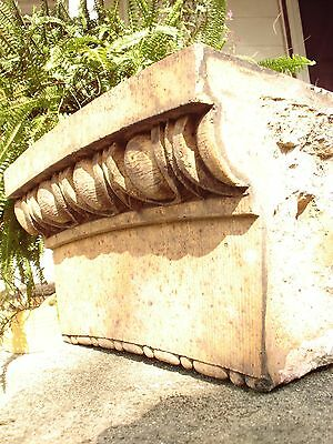 2 Terra Cotta Stones. Old Chicago Saint Boniface School. Architectural Salvage. 2