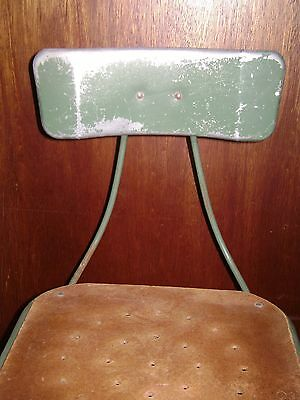 Antique Green Industrial Metal Machinist Stool Pinterest Repurpose 4