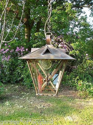 A very pretty unusual Vintage French brass lantern (T157) 6
