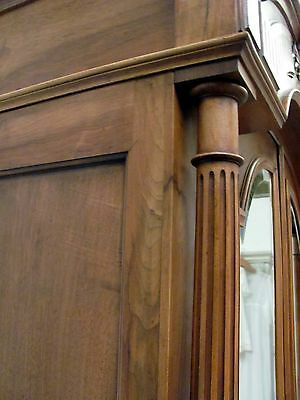 Imposing Antique French Solid Walnut Armoire - C1880 4