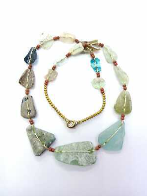 Afghan Antique Ancient Rare Roman Glass Beads Necklace Jewelry Handmade Vintage 2