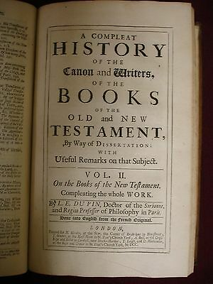 A Complete History of the Canon and Writers of the Old/New Testament - 1699 2