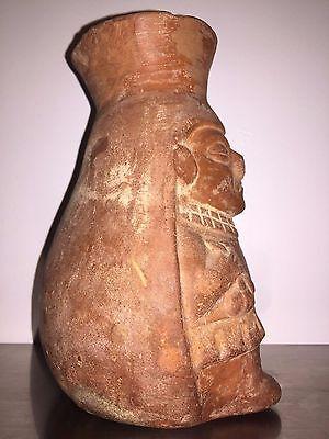 Moche, Dignitary red ware vessel (100-800 AD), Peru 4.5 in L 6.5 in H 4.25 in D 4