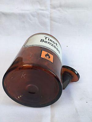 alte Apothekerflasche Braunglas Gefäß Apotheke 21,5cm Tinct.Benzoes #35