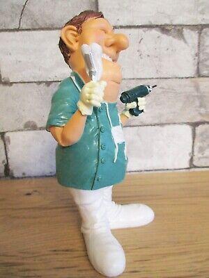 Zahnarzt mit Bohrer Dentist Funny Beruf Figur Profession 19 cm Neu 5