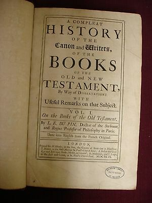 A Complete History of the Canon and Writers of the Old/New Testament - 1699 3