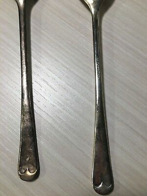 Vintage FB Rogers Italy Silver Serving Spoon and Fork Set 8