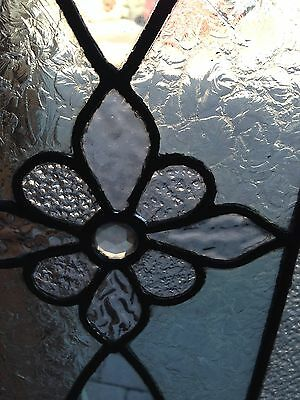Antique Stained Glass Transom Window With Jewel In Center Sg 607 2