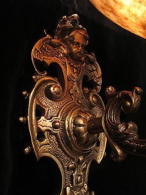 wall light sconces angel faces  solid cast bronze custom made by local artist 6