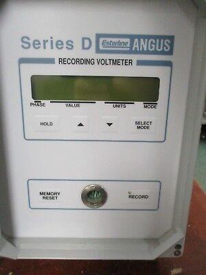 Esterline Angus Recording Voltmeter Series D Used 3