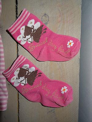 Ensemble rose leggins rayé, pull, gilet, 2 paires de chaussettes Taille 2 ans 3