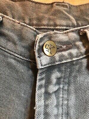 Calvin Klein Size W.28 L32 Unisex Straight Leg Grey Denim 100% Cotton Jeans 7