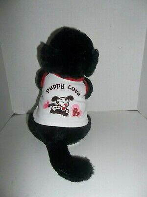 """babw build a bear workshop black lab labrador puppy dog plush 11"""" tall 3"""