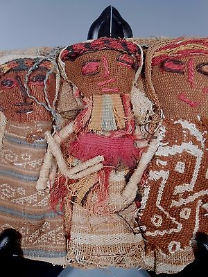 Peru Peruvian Central Coast Chancay Fabric Cotton Burial Dolls  #2 3