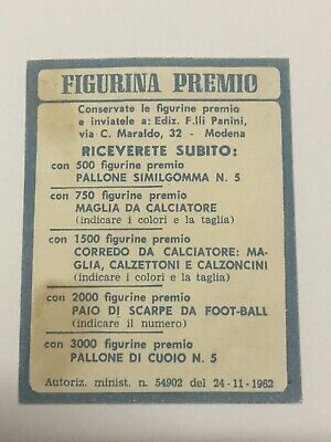 CALCIATORI PANINI JUVENTUS 1962/63 SICILIANO - Figurina Premio- Rara 2