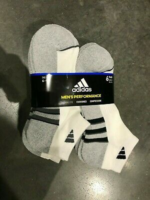 Adidas Men's Climalite Low Cut 6-pair Socks Extended Size XL or REG L White GOLF 2