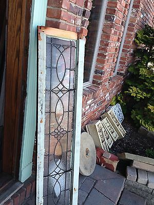Antique Stained Glass Transom Window With Jewel In Center Sg 607 3