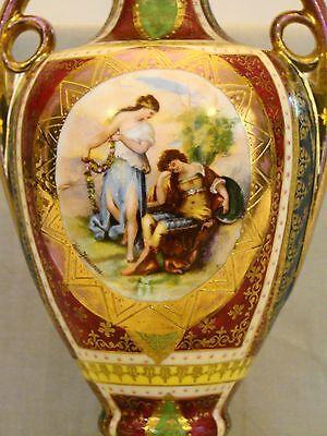 Vienna Cabinet Urn Vase after Angelica Kaufmann Blue Royal Vienna Style Beehive 2