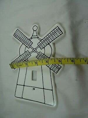 "Dansk Windmill Electric Switch Cover Single Toggle Ceramic 7"" Dansk for Kids 8"