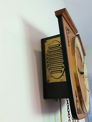 Junghans Vintage Pendulum Wall Clock With Brass Weights 12