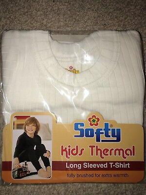 SOFTY® 1 or 2X Children Kids Thermal Underwear SHORT Sleeve LONG JOHN Top Warm 2
