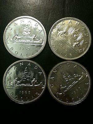 4x 1965 Canada Dollars PL Proof Like Silver BU Elizabeth II UNC Gem Voyageur 2