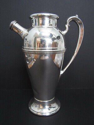 "PLYMOUTH 48-oz SILVERPLATE COCKTAIL PITCHER EPNS 3318 VINTAGE 1930'S 11""H 2"