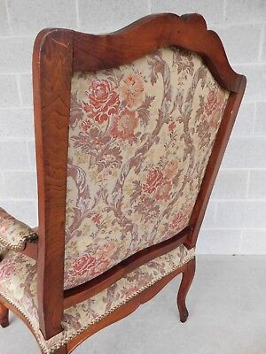 Quality Vintage French Louis XV Style Fireside Accent Arm Chairs  - a Pair 3