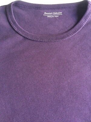 M&S Ladies Long Sleeve Crew Neck T Shirt Pure Cotton,sz 6-24,free postage 8