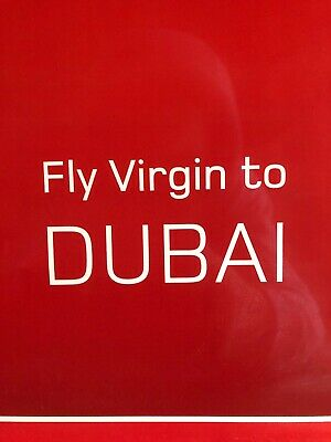 VINTAGE RARE VIRGIN Atlantic Travel Poster Fly Virgin To DUBAI Framed