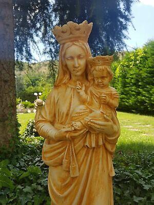 Statua Della Madonna Del Carmine Carmelo Da Esterno In Cemento Marmo E Pietr 2