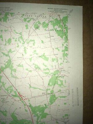 Milford Square PA Bucks Co USGS Topographical Geological Survey Quadrangle Map 3