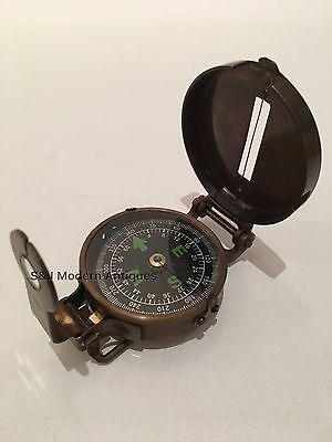 Soldiers Military Thumb Compass Vintage Brass WW2 1940 Navigation World War II 8