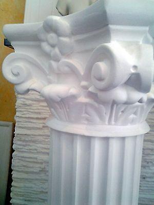 Colonne dorique H:79cm ivoire PILIER Stèle DECO plâtre armé .@rticle neuf staff