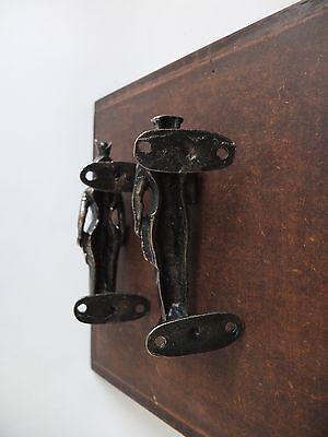 Vintage Antique Style Solid Brass Pair Of Door Handles Pulls 5