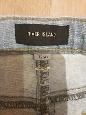 Boys River Island Skinny  DistressedEffect Light Blue Jeans Age 12. 4
