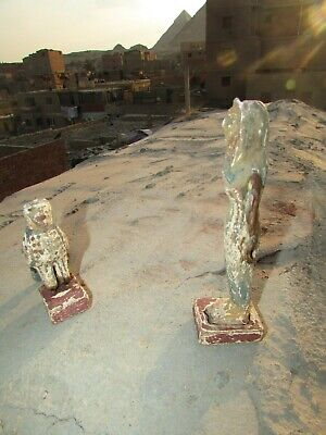Antique Pharaonic Statues Made Of Wood, Horse And Nefertiti, Rare Made In Egypt 5