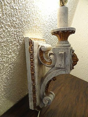 Vintage Antique Wood Sconce Door Entrance Wall Mount Light Lamp Victorian Castle 5