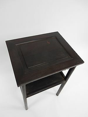 Gorgeous Antique Chinese Zitan Two tier  Wood Side Table RARE!!  28 inches 10