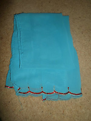 1 NEW Mixed Fibre Ladies Scarf Bright Blue+Red Sequin Detail ~ Gift Idea #59 3