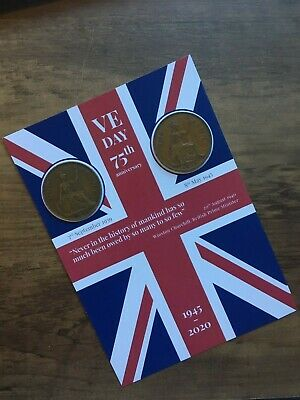 VE DAY FLAG 75th Anniversary Victory in Europe - Coins -1939 & 1945 8th May 2020 6