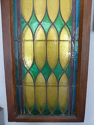 ANTIQUE CHURCH STAINED GLASS WINDOW - LATE 1800's - READY TO MOUNT ON WALL 4