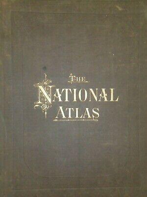 Vintage 1883 UNITED STATES HISTORICAL Maps Old Antique Original OW GRAY Atlas 2