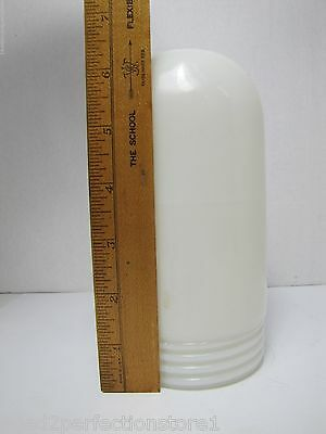 Old White Milk Glass Industrial Explosion Proof Colored Light Lamp Shade screwon 8