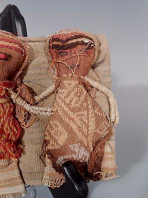 Peru Peruvian Central Coast Chancay Fabric Cotton Burial Dolls  #3 4