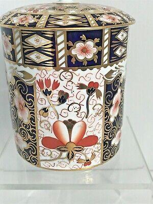 Rare Royal Crown Derby 2451 Or Traditional Imari Condiment Jar - Date Code 1917 2
