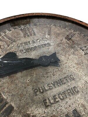 Large Cast Iron Gent Gents Of Leicester Industrial Railway Station Factory Clock 4